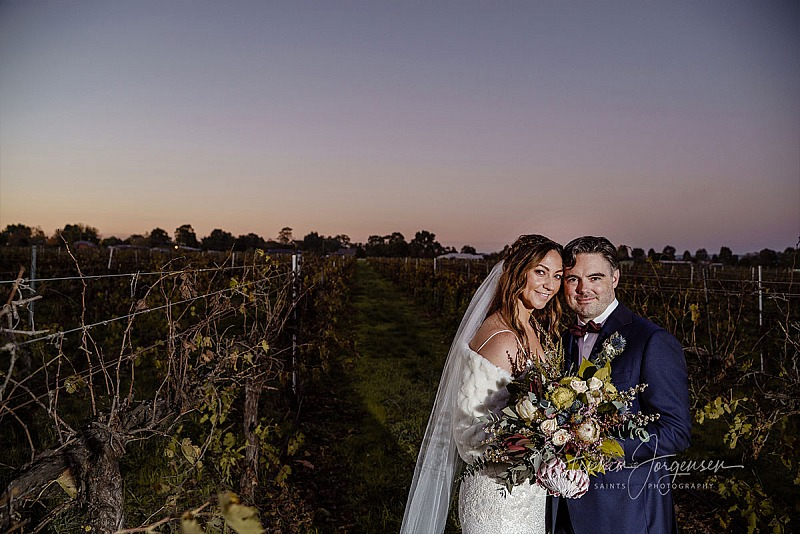 Miranda and Jame's wedding at Brown Brothers Winery, Milawa.