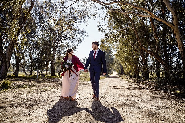 Courtney and Peter's Albury Winter Wedding.
