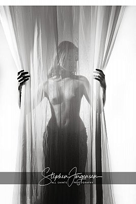 Black and white fine art nude portrait  by Stephen Jorgensen from All Saints Photography Albury.