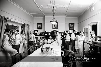 Wedding photograph in the house at Brown Brothers Winery Milawa by Stephen Jorgensen from All Saints Photography Albury.