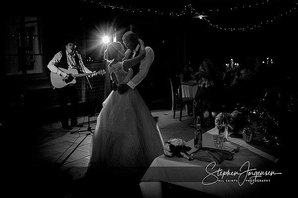 Wedding first dance photograph at the Chocolate Factory Junee by Stephen Jorgensen from All Saints Photography Albury.