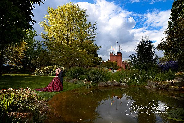 Wedding photograph at the castle All Saints Estate Rutherglen  by Stephen Jorgensen from All Saints Photography Albury.